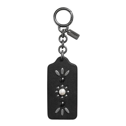 Coach Black Western Rivets Hangtag Bag Charm
