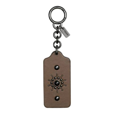 Coach Black/Brown Western Rivets Hangtag Bag Charm