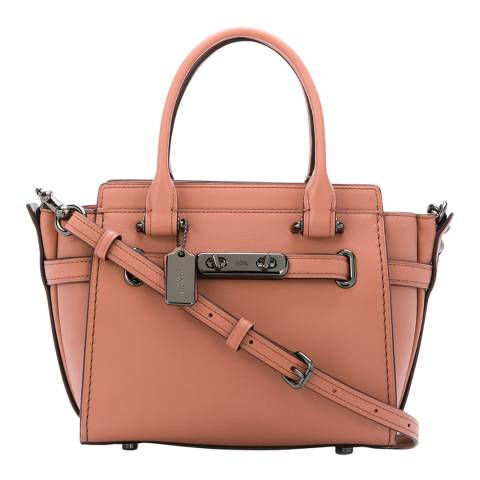 Coach Melon Glovetanned Leather Coach Swagger 21 Bag