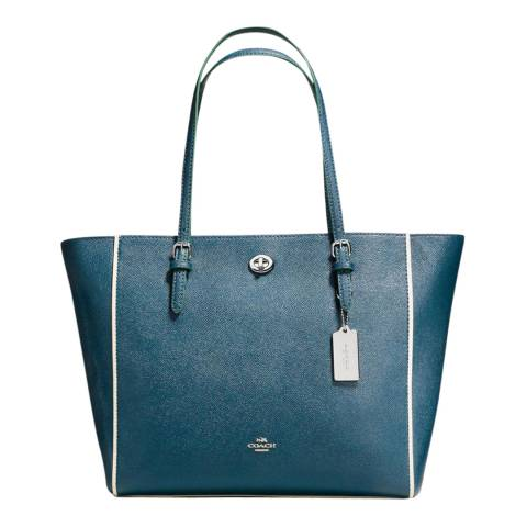 Coach Mineral Edgestain Leather Turnlock Tote Bag