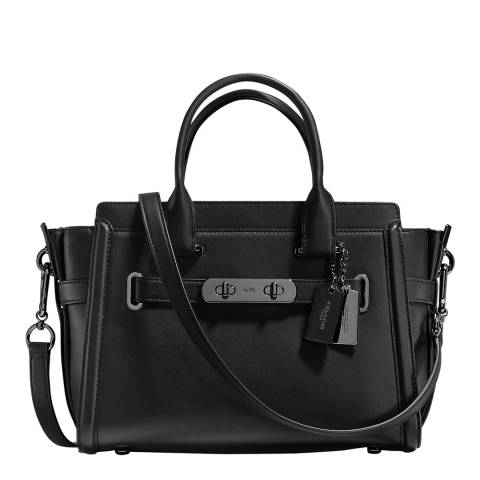 Coach Black Glovetanned Leather Coach Swagger Bag