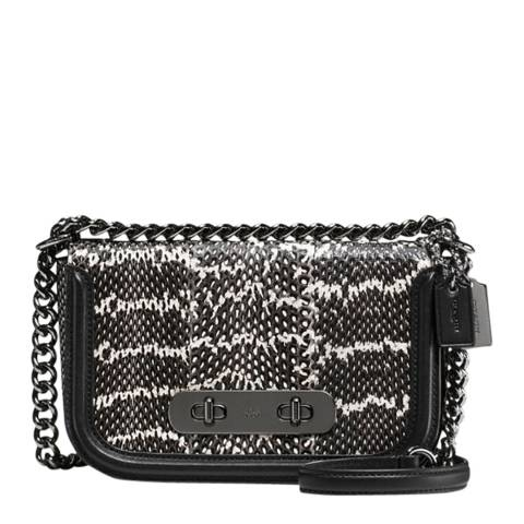 Coach Black/Chalk Snake Coach Swagger 20 Shoulder Bag
