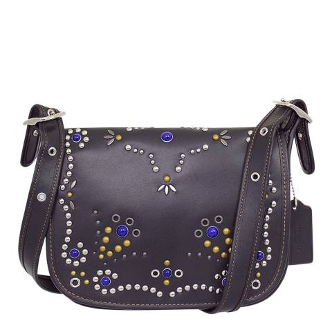 Coach Black All Over Studded Embellishment Patricia Bag