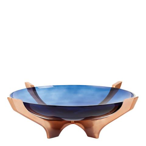 Gallery Blue Radstock Large Bowl Vase & Bowl