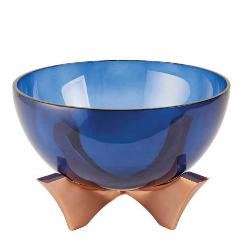 Gallery Blue Radstock Medium Bowl Vase/Bowl