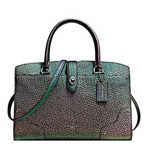 Coach Hologram Leather Mercer 30 Satchel