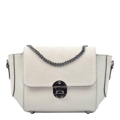 Carla Ferreri Beige Leather Crossbody Bag