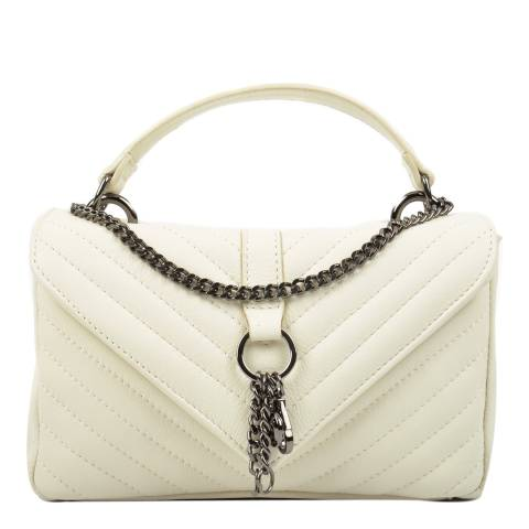 Carla Ferreri Beige Leather Top Handle Bag