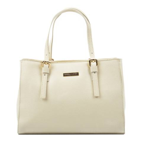 Isabella Rhea Beige Leather Tote Bag