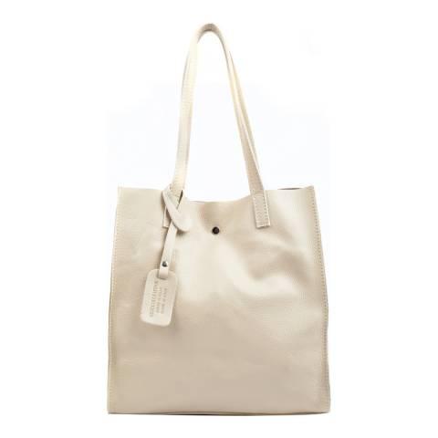 Isabella Rhea Beige Leather Tote Bag