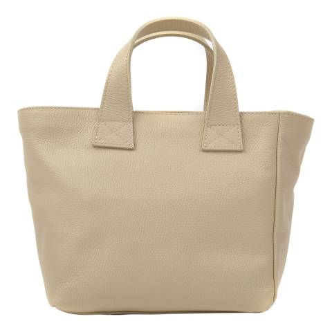 Renata Corsi Beige Leather Shoulder Bag