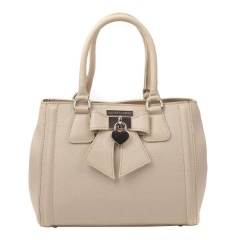 Renata Corsi Beige Leather Tote Bag