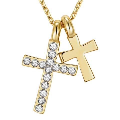 Runway Gold Cross Necklace