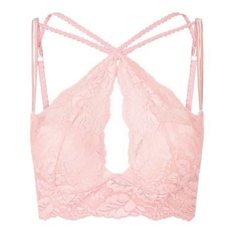 Pleasure State Couture Silver Pink Zabella Zezette The Knockout Bra