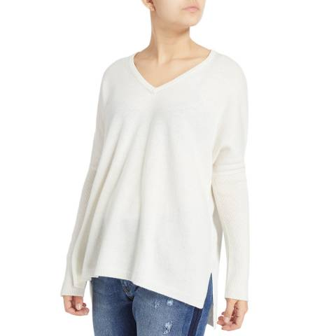 Scott & Scott London White Miss Darcy Cashmere Jumper