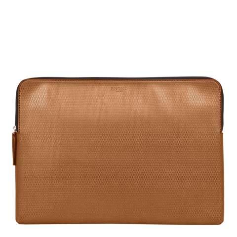 Knomo Bronze Macbook Pro Embossed 15'' Laptop Sleeve