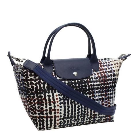 Longchamp Navy Small Le Pliage Neo Fantaisie Bag