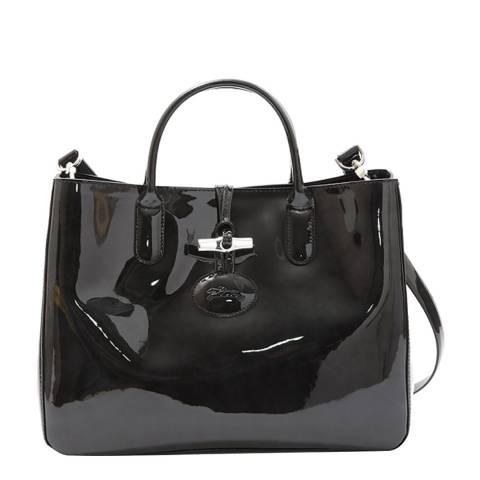 Longchamp Black Patent Leather Bag