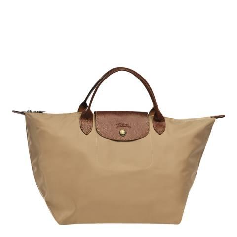 Longchamp Beige Medium Le Pliage Bag