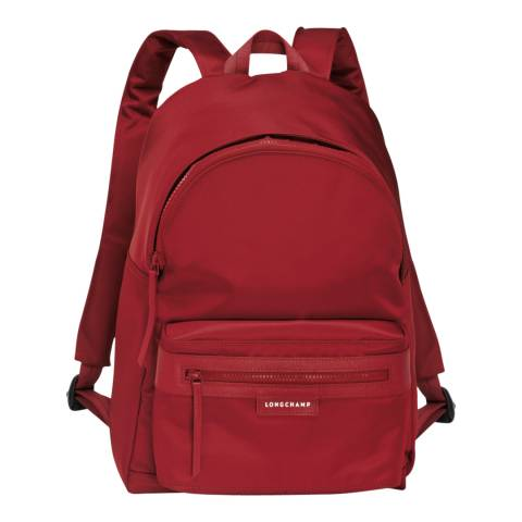 Longchamp Red Le Pliage Neo Backpack