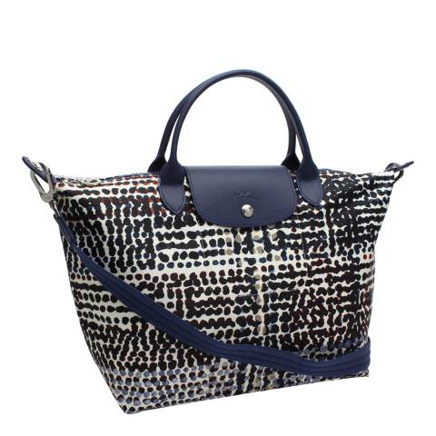 Longchamp Navy Medium Le Pliage Neo Fantaisie Bag