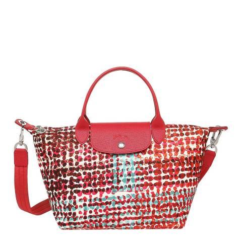 Longchamp Red Multi Tote Bag