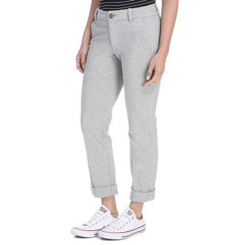 James Perse Womens Heather Grey Clean Jersey Chino