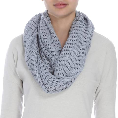 James Perse Womens Breeze Open Stitch Infinity Scarf