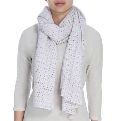James Perse Pearl Grey Open Stitch Scarf