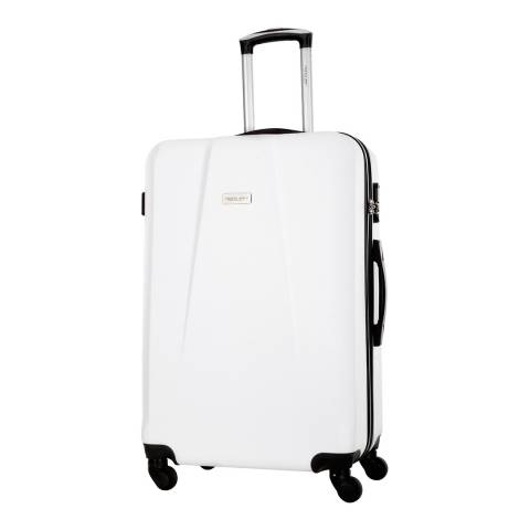 Travel One White Pandara 4 Wheeled Suitcase 66cm