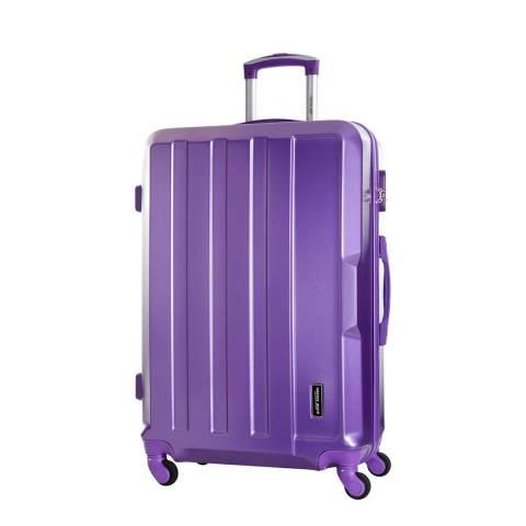 Travel One Purple Vilarosa 4 Wheeled Suitcase 56cm