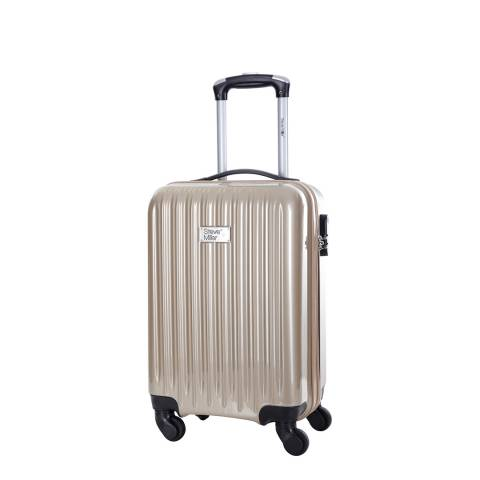 Steve Miller Beige Eagle 4 Wheel Cabin Suitcase 46 cm