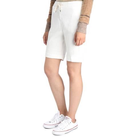James Perse Womens Cricket White Pull On Linen Trouser Short