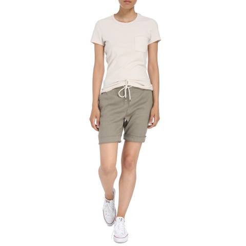 James Perse Womens Khaki Pull On Linen Trouser Short