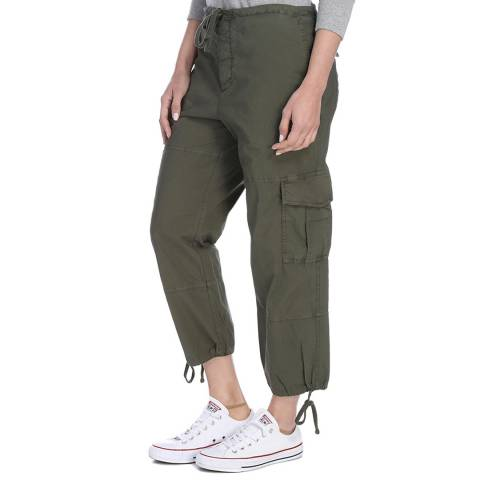 James Perse Womens Trooper Pigment Slim Cropped Cargo Pant