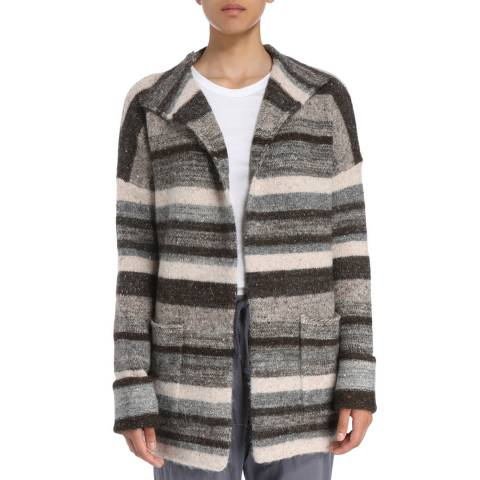James Perse Womens Brown/Grey Ombre Tweed Cardigan