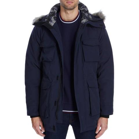 Gianni Feraud Navy Padded Prince Parka Coat