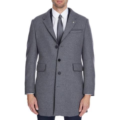 Gianni Feraud Grey John Wool Blend Coat