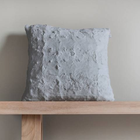 Gallery Grey Stellan Fur Cushion 43x43cm