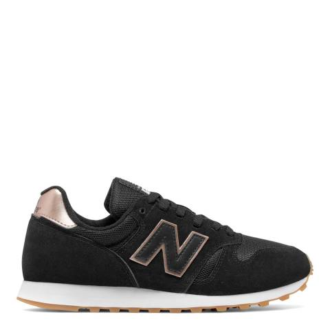 New Balance Women's Black Suede/Mesh 373 Trainers