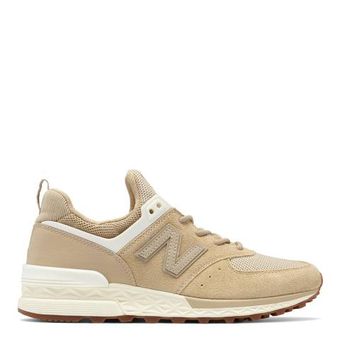 New Balance Women's Beige 574 Suede/Mesh Trainers