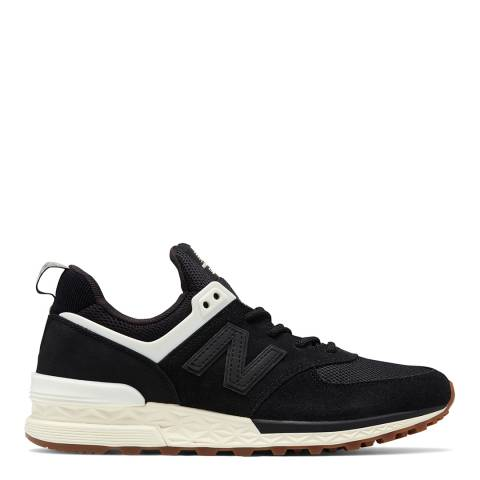 New Balance Women's Black Suede/Mesh 574 Trainers