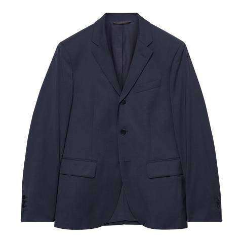 Gant Navy Wool Travel Suit Jacket