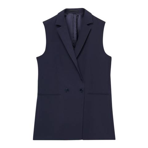 Gant Blue Double Breasted Sleeveless Blazer