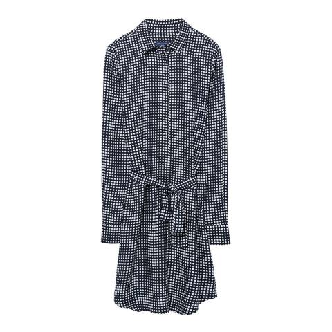 Gant Marine Blue Dot Print Shirt Dress