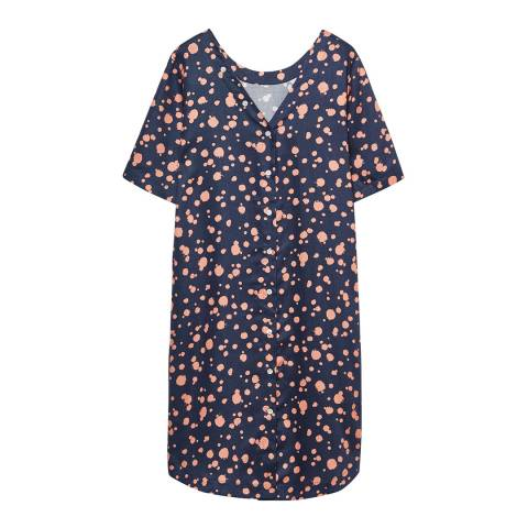 Gant Blue Dotted Shirt Back Dress
