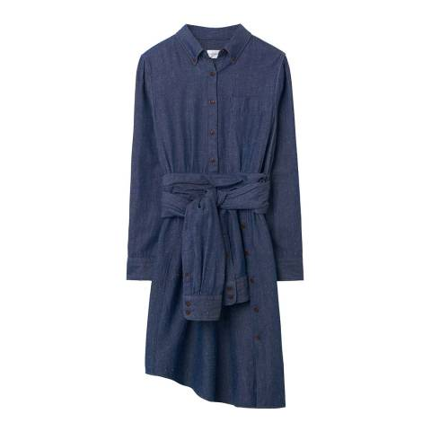 Gant Indigo Twill Slub Shirt Dress