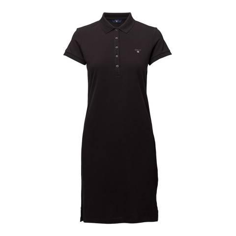 Gant Black Jersey Pique Dress