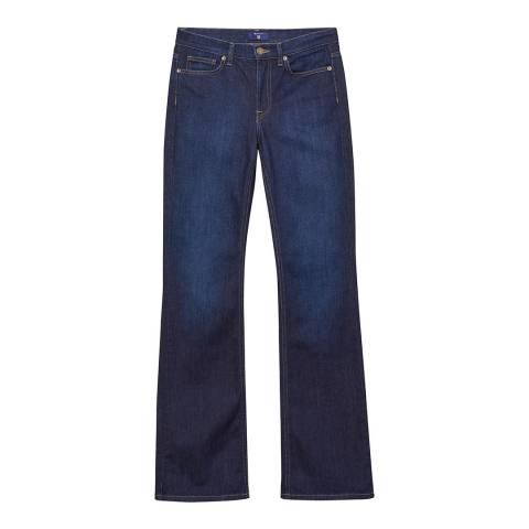 Gant Dark Blue Flare Stretch Jeans