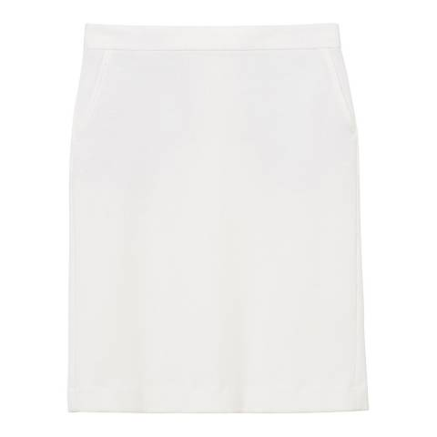 Gant Cream Pique Stretch Skirt